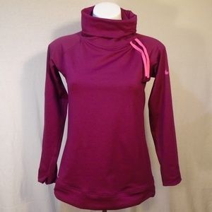 Nike Pro Dri Fit Lavender Mock Neck Pullover EUC